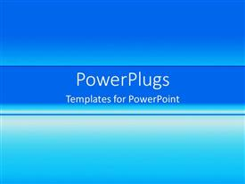 PowerPoint template displaying plain blue gradient fading from dark to light