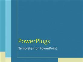 PowerPlugs: PowerPoint template with plain blue, tan, and white line pattern