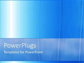 PowerPlugs: PowerPoint template with a plain blue and white background surface tile with bright light