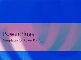 PowerPlugs: PowerPoint template with a plain blue and white background surface tile with stripes