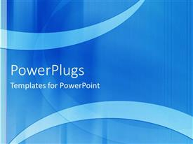 PowerPlugs: PowerPoint template with a plain blue and white background theme with stripes