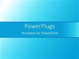 PowerPoint template displaying plain blue and white background tile with bright light