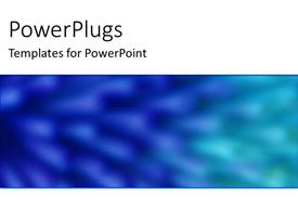 PowerPlugs: PowerPoint template with a plain blurry blue background with some white patterns