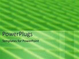 PowerPoint template displaying a plain blurry green background with white lines