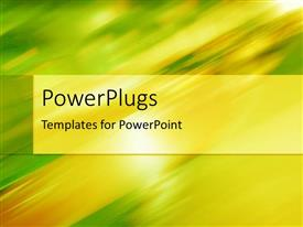 PowerPlugs: PowerPoint template with a plain blurry green, white and yellow colored background surface
