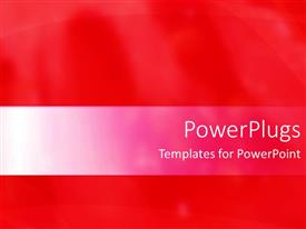 PowerPoint template displaying a plain bright red background with some blurry lines