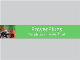 PowerPlugs: PowerPoint template with a plain bright off white colored background surface tile