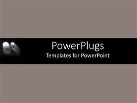PowerPoint template displaying a plain clear ash and black colored background theme tile