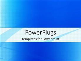 PowerPoint template displaying a plain clear blue and white background theme tile