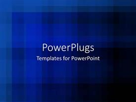 PowerPlugs: PowerPoint template with a plain clear blurry blue and black background tile