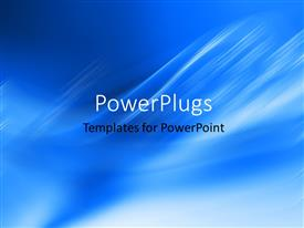 PowerPlugs: PowerPoint template with plain clear navy blue blue and white cloudy display tile