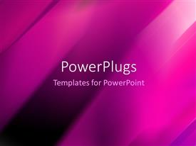 PowerPlugs: PowerPoint template with plain clear purple, black and white display tile with stripes