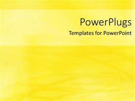 PowerPoint template displaying a plain clear yellow and white background theme tile