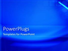 PowerPlugs: PowerPoint template with a plain dark blue colored background with wave lines