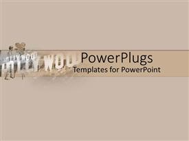 PowerPlugs: PowerPoint template with plain depiction of a peach colored background with Hollywood text
