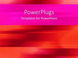 PowerPoint template displaying a plain dotted pink and orange painted blurry background