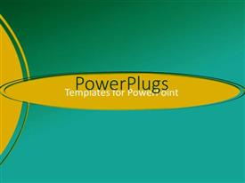 PowerPlugs: PowerPoint template with a plain green background with some curvy yellow lines