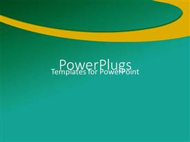 PowerPlugs: PowerPoint template with plain green background surface with a thick yellow circular stripe