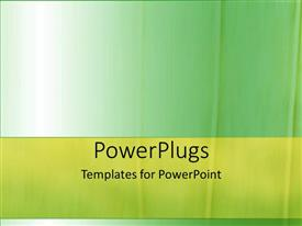 PowerPoint template displaying a plain green colored background with a light green strip an the middle