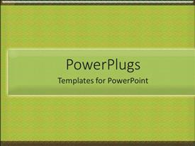 PowerPoint template displaying a plain green colored background with a middle strip