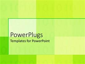 PowerPoint template displaying plain green and white surface with cubes and stripes