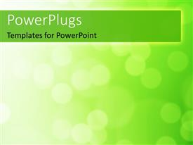 PowerPoint template displaying a plain green and white surface tile with blurry lights