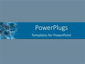 PowerPoint template displaying plain grey colored background with a blue strip part