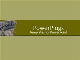PowerPoint template displaying a plain grey colored background with a middle strip
