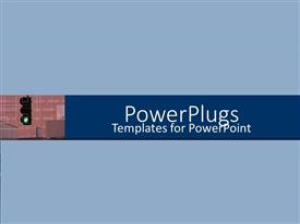 PowerPlugs: PowerPoint template with plain light blue background with traffic light on green