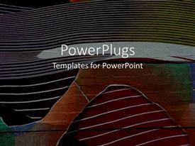 PowerPoint template displaying a plain multi colored background surface tile with some images