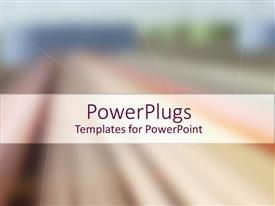 PowerPoint template displaying a plain multi colored background surface tile with some blurry images