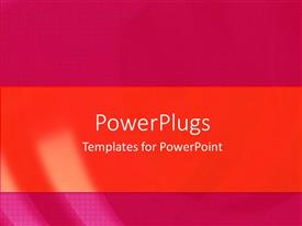 PowerPoint template displaying a plain orange and pink colored background surface tile