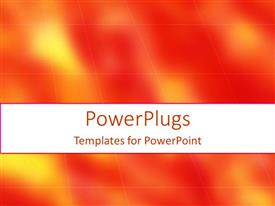 PowerPlugs: PowerPoint template with a plain orange and yellow background with blurry cubes