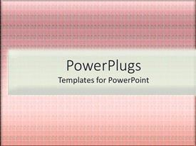PowerPlugs: PowerPoint template with a plain pink background with lots of patterns on it