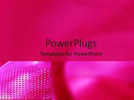 PowerPlugs: PowerPoint template with a plain pink colored background with dotted designs by the side