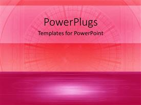 PowerPoint template displaying a plain pink colored background with a middle strip