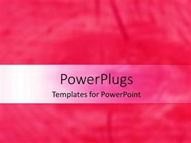 PowerPlugs: PowerPoint template with a plain pink and white background surface with some images