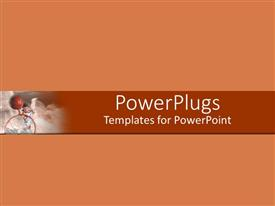 PowerPlugs: PowerPoint template with a plain pitch background with a red strip in the middle
