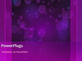 PowerPlugs: PowerPoint template with a plain purple background with lots of moving objects