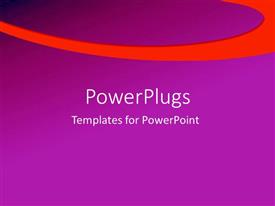 PowerPlugs: PowerPoint template with a plain purple background surface with a thick orange strip