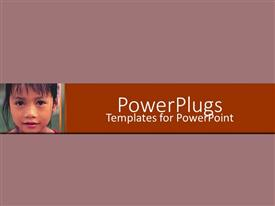 PowerPlugs: PowerPoint template with a plain purple colored background with a small kid
