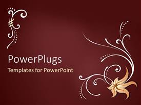 PowerPlugs: PowerPoint template with a plain red colored display tile with flower images
