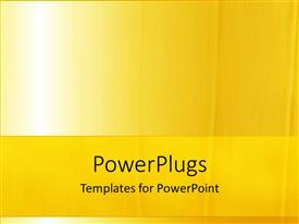 PowerPlugs: PowerPoint template with a plain simple bright yellow colored background with some lines