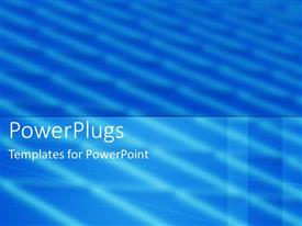 PowerPlugs: PowerPoint template with a plain sky blue background with some wave lines