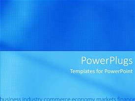 PowerPoint template displaying a plain sky blue and deep blue colored background