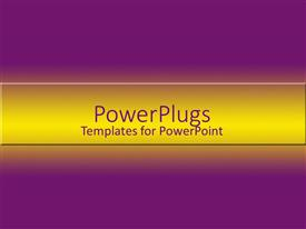 PowerPlugs: PowerPoint template with a plain solid beep purple background with yellowish center hue