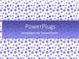 PowerPlugs: PowerPoint template with a plain tile with lots of multi colored stars in different sizes