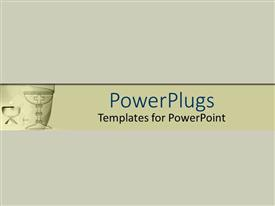 PowerPoint template displaying plain off white background surface tile with a cross
