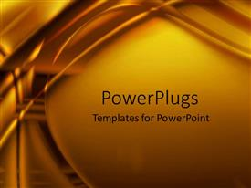 PowerPlugs: PowerPoint template with a plain yellow background surface tile with some lines