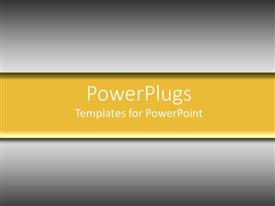 PowerPlugs: PowerPoint template with plain yellow banner on gray background